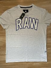 G Star New Mens Relaxed Fit Off White Large T Shirt RRP £25