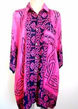Size XXL Black Pink Short Sleeve Over Size Shirt Tunic Top Fits Size 18/20 NWOT