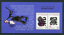 Christmas Island Australia 2016 MNH Year of Monkey 2v M/S Lunar New Year Stamps