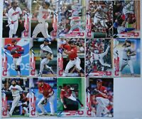 2020 Topps Series 1 Cleveland Indians Base Team Set 14 Baseball Cards