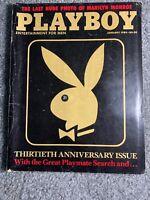Playboy Magazine 30th Anniversary Issue Jan 1984 Marilyn Monroe's last photo-VG+