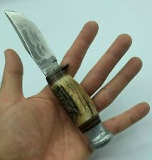 1950s VTG William Rodgers Sheffield Hunting Boy Scouts Trapper Knife Stag Handle