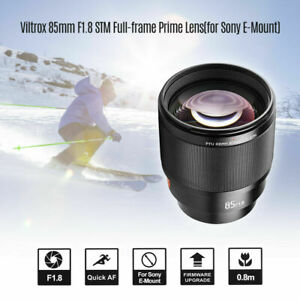Viltrox 85MM F1.8 STM Auto Focus Close Up Lens Full-frame L Aperture for Sony E