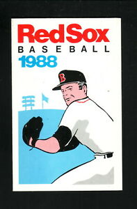 Boston Red Sox--Roger Clemens--1988 Pocket Schedule--University Credit Union