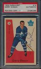 1959 Parkhurst #19 Gerry Ehman Autographed RC PSA/DNA Authentic Auto 41049