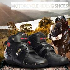 Noir Tout terrain Moto Sport Chaussures Imperméables MX GP Course Cuir Bottines