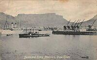 POSTCARD SOUTH AFRICA - CAPE TOWN DOCKS - SEA APPROACH  -  c1937