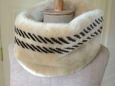 BELLISSIMO MONTONE NATURALE Custom Handmade In USA Fromlowitz Infinity Sciarpa
