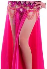Pink Satin Belly Dance Long Skirt w Double Slit Dancewear Costume - New