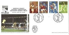 NORFOLK FA CENTENARY 1980-1 POSTAL COVER. Posted @ Carrow Rd, NORWICH CITY FC
