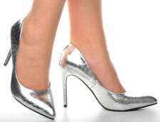 Synthetic Leather Court Wet look, Shiny Heels for Women