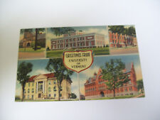 GREETINGS FROM UNIVERSITY OF VERMONT multview postcard