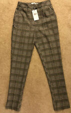MANGO Casual Checked Pants 34
