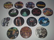 16 Horror Badges Absurd Gremlins Nightmare City Re Animator Scanners Demons Fly