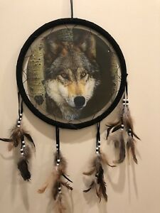 Free Shipping! Holographic Wolf Dream Catcher