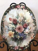 Lena Liu's Floral Cameos ENCHANTMENT 2nd Issued Plate Bradford Exchange 1996