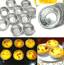 Fd3159 Disposable Aluminum Foil Baking Cups Egg Tart Pan Cupcake Case ~250Pcs~ ♫