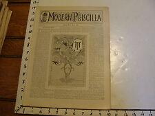 The Modern Priscilla : lynn Mass 1898 APRIL : vol XII # 2 BURNT LEATHER WORK