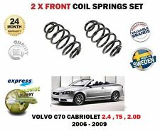 FOR VOLVO C70 2.4 2.5 T5 2.0D 2006-2009 2X FRONT AXLE COIL SPRINGS SET