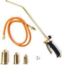 Portable Propane Weed Torch Burner Fire Starter Ice Melter +3 Nozzles 60