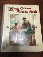 Antique 1912 Childrens Book Happy Childrens Sunday Book. Ernest Nister No 3107