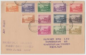 Norfolk Islands 1947 Airmail First Day Cover to England C243