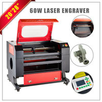 "Laser Engraving Cutting Machine Pro USB 60W Co2 Laser Engraver Cutter 20"" x 28"""