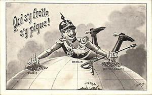 WW1 Anti-Kaiser Patriotic. Qui s'y Frotte, s'y Pique # 19 by Edition FARB.