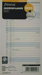 filofax Kalendereinlage 2022 PERSONAL, Jahresplaner,  Leporello,  Nr. 22-68445
