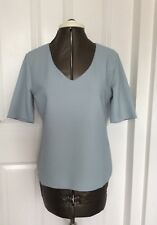 Armani Collezioni Women's T-shirt Grey Mid Sleeve V-neck 48 UK Size 16