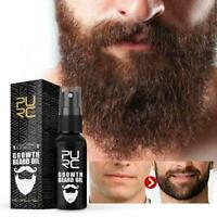 Natural Organic Men's Beard Growth Oil Thickener Beard Oil Essential Beard Y6K7