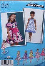 DRESS * Simplicity Pattern 2989 NEW Uncut * Size Infant/Toddler/Girl 1/2-1-2-3