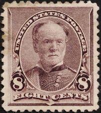 US Sc# 225 *MINT OG H* { JUMBO -XF- CENTERED } 8c WILLIAM T. SHERMAN FROM 1893