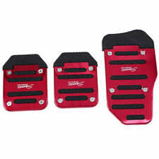X205 Non-Slip Manual Car Foot Pedals Brake Pad Racing Sport Type-R Aluminum Red