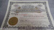 Huntington Pacific Oil and Refining Company Stock 100 shares  California 1921