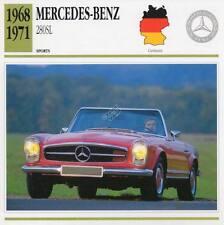 1968-1971 MERCEDES BENZ 280SL Sports Classic Car Photo/Info Maxi Card