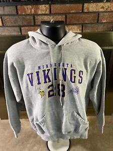 Minnesota Vikings NFL Football Hooded Skol Sweatshirt Mens Large Adrian Peterson