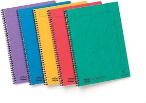 A4/A5/A6 Notebook Ruled Lined Reporter Notepad Spiral Wiro School clairefontaine
