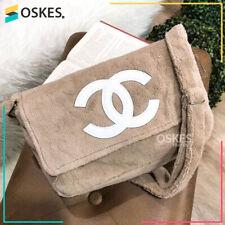 NEW Chanel Precision Velour Makeup Crossbody shoulder Bag Vip Gift (beige color)