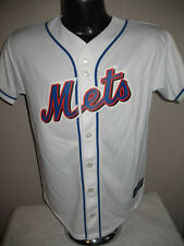 MLB New York Mets Baseball White Jersey Shirt Majestic Youth Boys Lrg Clearance