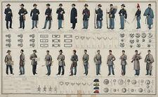 Large Real Canvas Art Print US Civil War Uniforms Union Confederate Soldiers