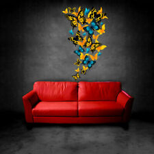 Full Color Wall Vinyl Sticker Decals Butterfly Spring Paintings (Col421)