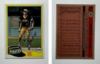 Tim Foli Signed 1981 Topps #501 Card Pittsburgh Pirates Auto Autograph