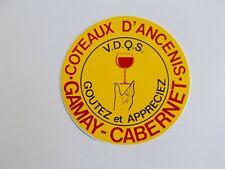 Autocollant Vin COTEAUX D'ANCENIS / GAMAY - CABERNET