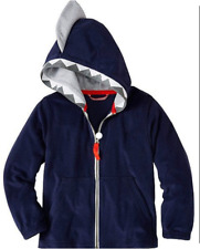 NWT Hanna Andersson SHARK Hoodie In Sunsoft Terry - in NAVY - size 10/140cm