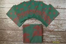 "GARNIER THIEBAUT 66"" Round Tablecloth + 6 Napkins Red Green Christmas Grapes SET"