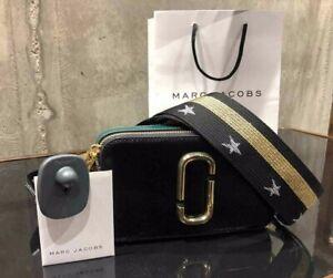 MARC JACOBS Snapshot Colourblock Black Small Camera Bag Crossbody 100% Genuine