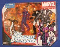 """Marvel Universe West Coast Avengers Figure 3-Pack 2012 MIB 4"""" Mockingbird 1/18th"""