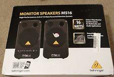 PAIR (2) Behringer MS16 Powered Studio / Home Desktop Monitor Amplified Speakers