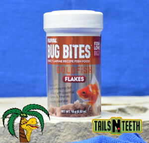 Fluval Bug Bites Goldfish Flake 18g ~ Insect Larvae High Protein Diet